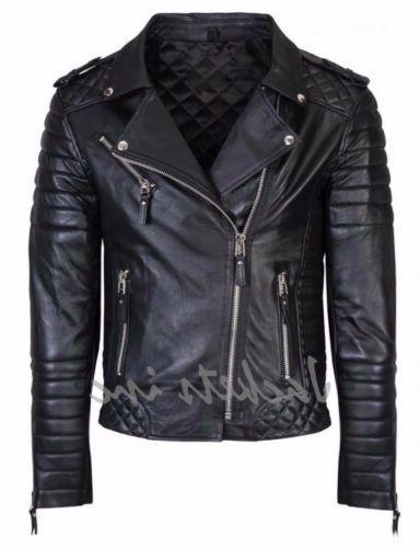 New Leather BROWN Slim jacket