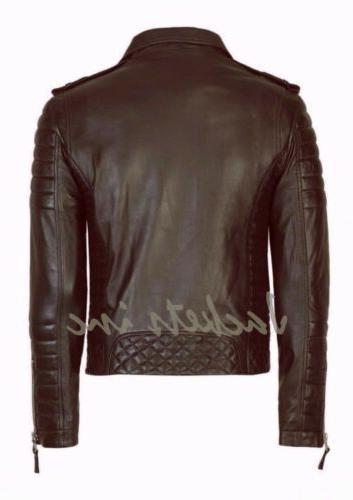 Leather BROWN Slim fit jacket