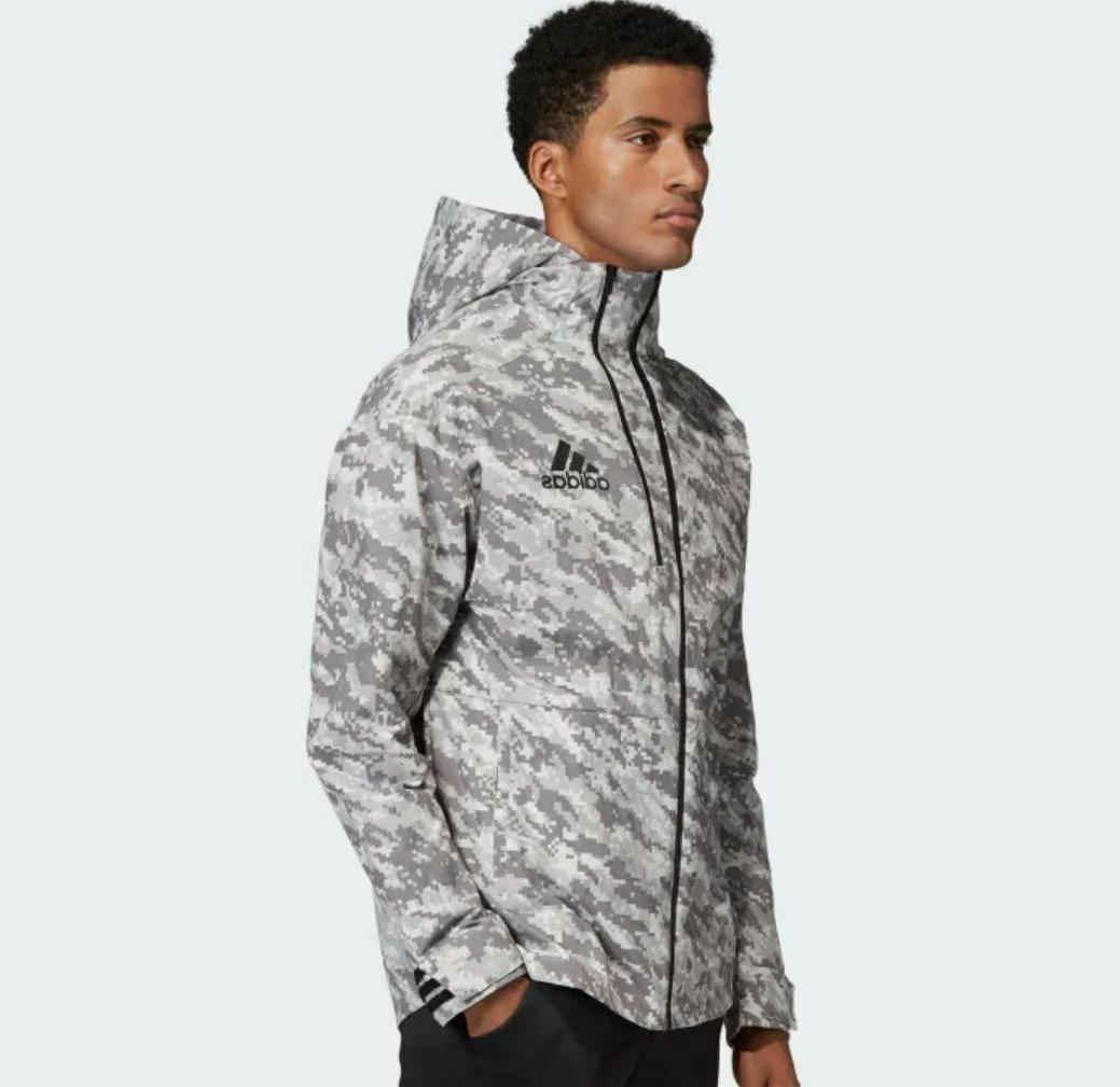 new men s id reflective camo hoodie