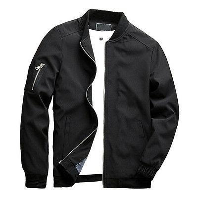 new men zipper casual work jacket fight