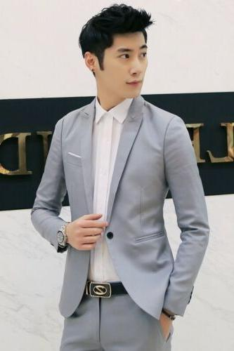 New Mens Fit Blazer Business Coat Jacket With Pocket