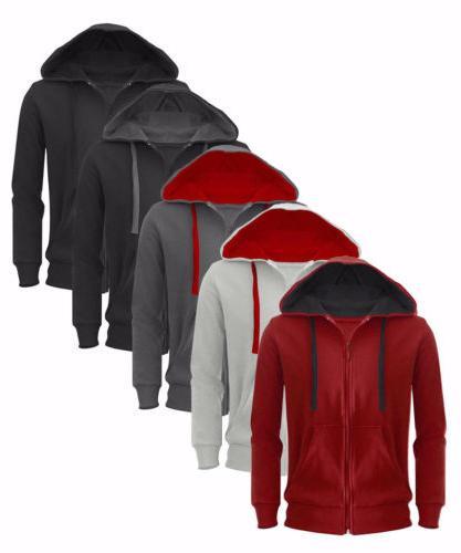 New Plain Hoodie American Fleece Up Hooded