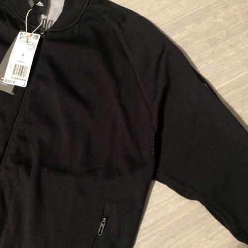 NWT ID Large Knit Bomber Black/White CF0334