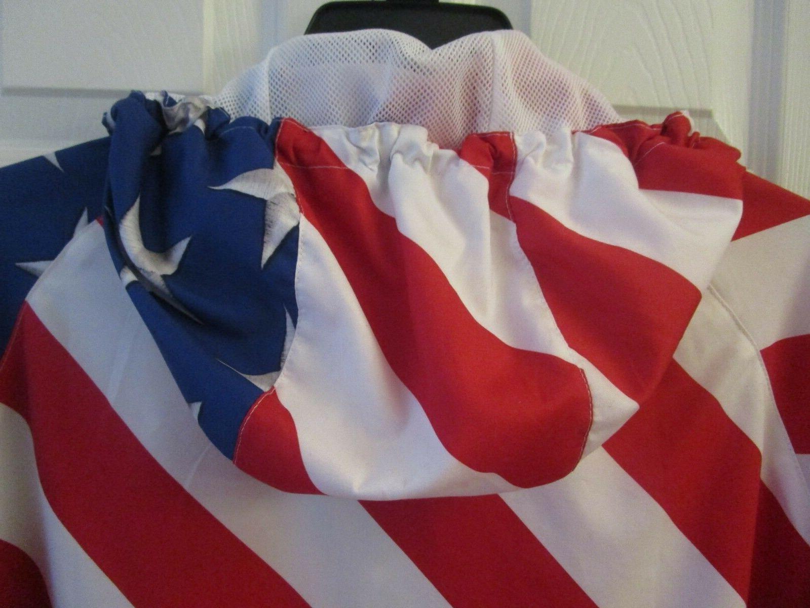 & USA Hoodie Windbreaker Jacket White