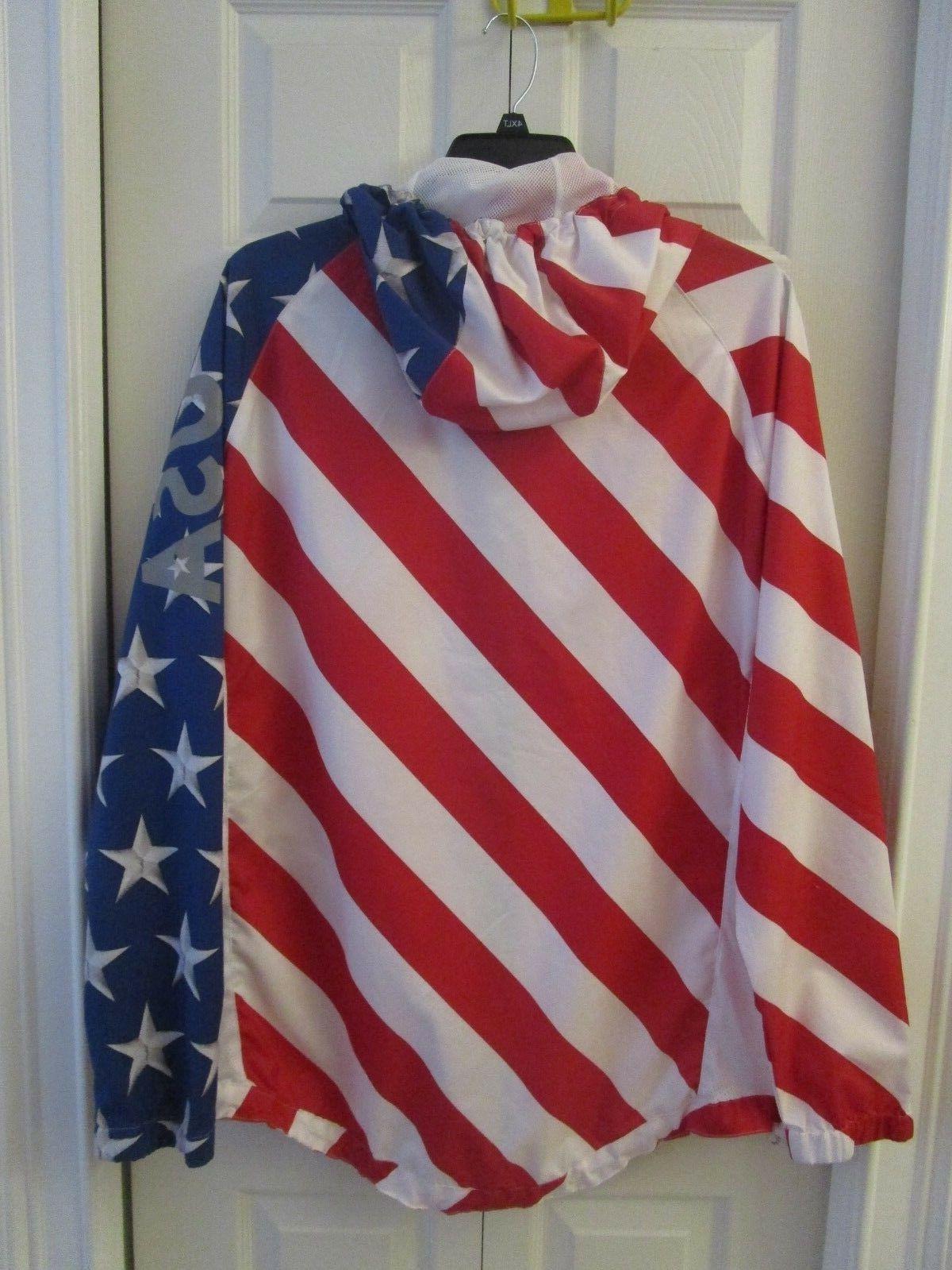 NWT Brooklyn & USA Hoodie Jacket White
