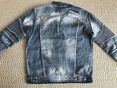 NWT Men's Contender Blue Denim Jacket L-3XL