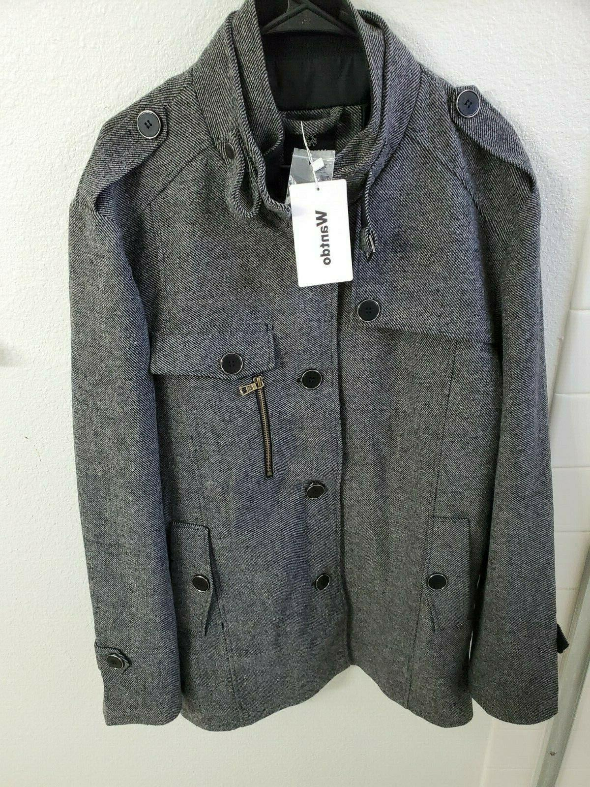 nwt men s wool blend jacket stand
