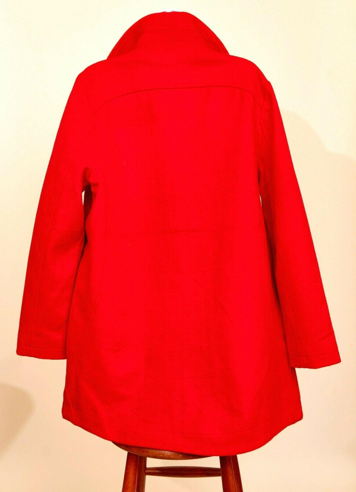 NWT Women's Blend Coat Jacket Large Red Zip
