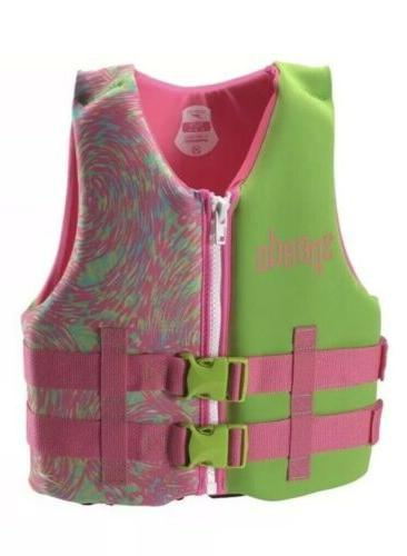 nwt youth girl pink green neoprene life