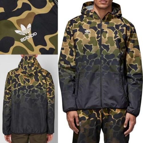og dip dyed mens 2xl camouflage windbreaker