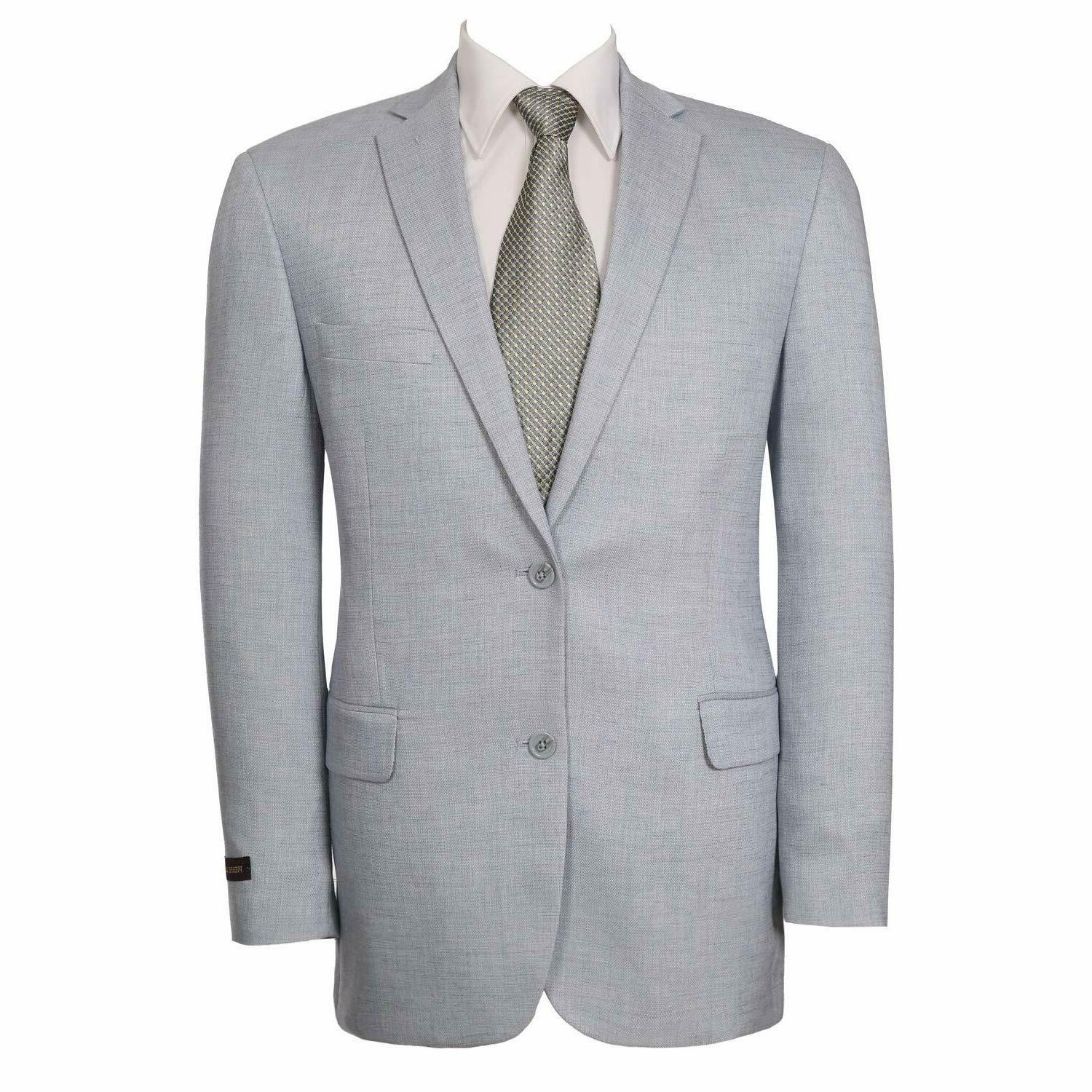 P&L Modern Two-Button Suit Separate Jacket Dove Gray