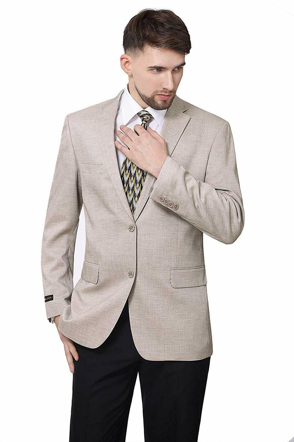P&L Modern Fit Two-Button Blazer Suit Jacket Dove