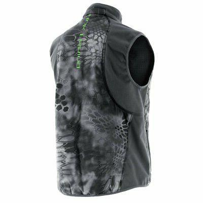 Huk Performance Tetra Gray Fishing Vest Jacket Sz Ret