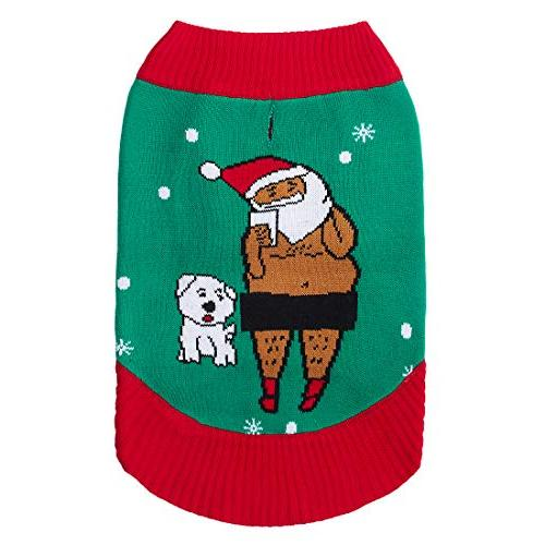 "Uideazone Pet - Christmas Designer Dog Sweatshirt Length 20"", of Clothes Dogs"
