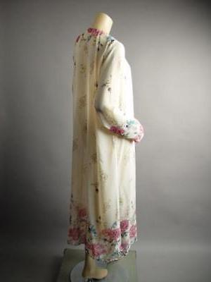 Plus Japanese Floral Long Robe 242 1XL 2XL