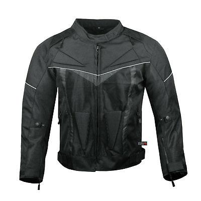 ProAir Motorcycle Jacket with Armor Mens Black