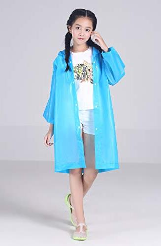 AzBoys Children Rain 2Pack,Blue Yellow,Waterproof Poncho for Raincoat for and Girls 6-12,for School,Camping,Emergency