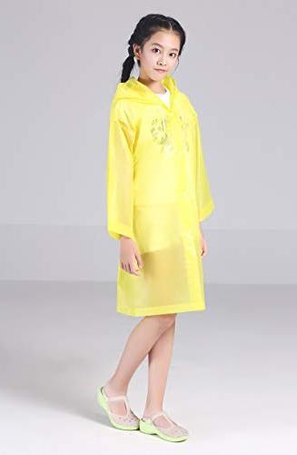 AzBoys 2Pack,Blue Rain Poncho Raincoat