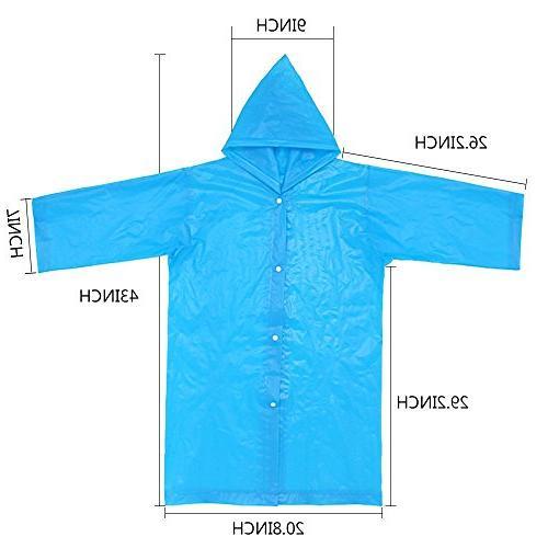 AzBoys Children 2Pack,Blue Yellow,Waterproof Raincoat Boys Girls