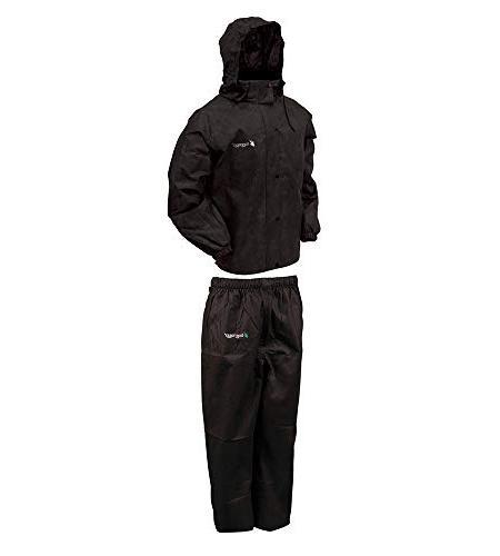 Frogg Rain Suit, Black Pants, Size X-Large