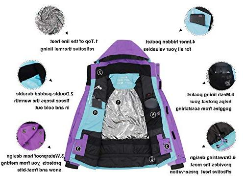 Waterproof Mountain Snow Jacket,Plum