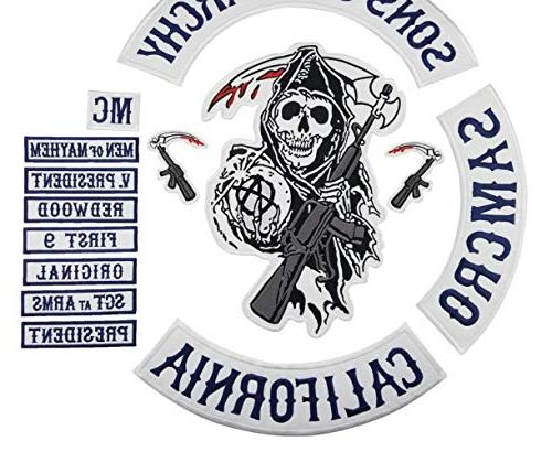son jacket back embroidered anarchy