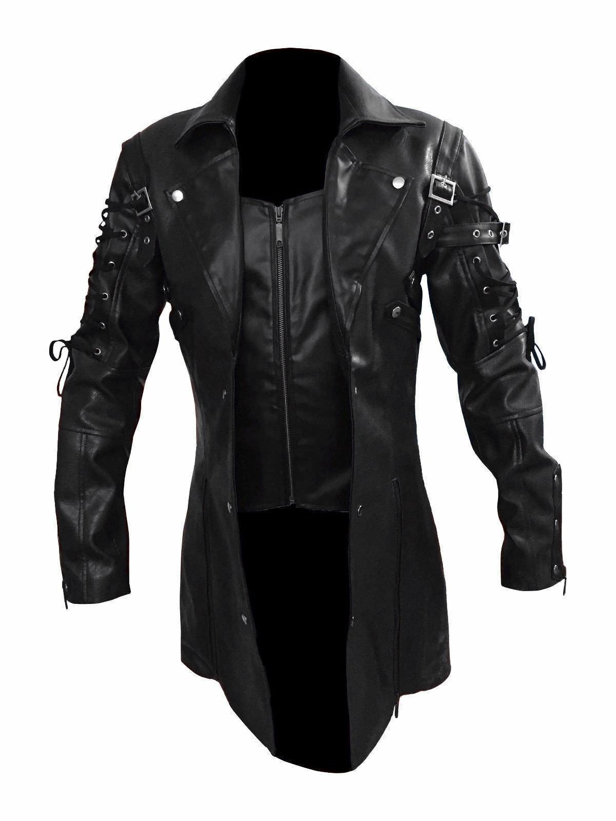 PU Leather Goth Punk Coat Arrival