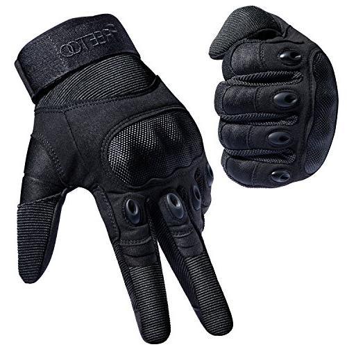 tactical gloves hard knuckle finger