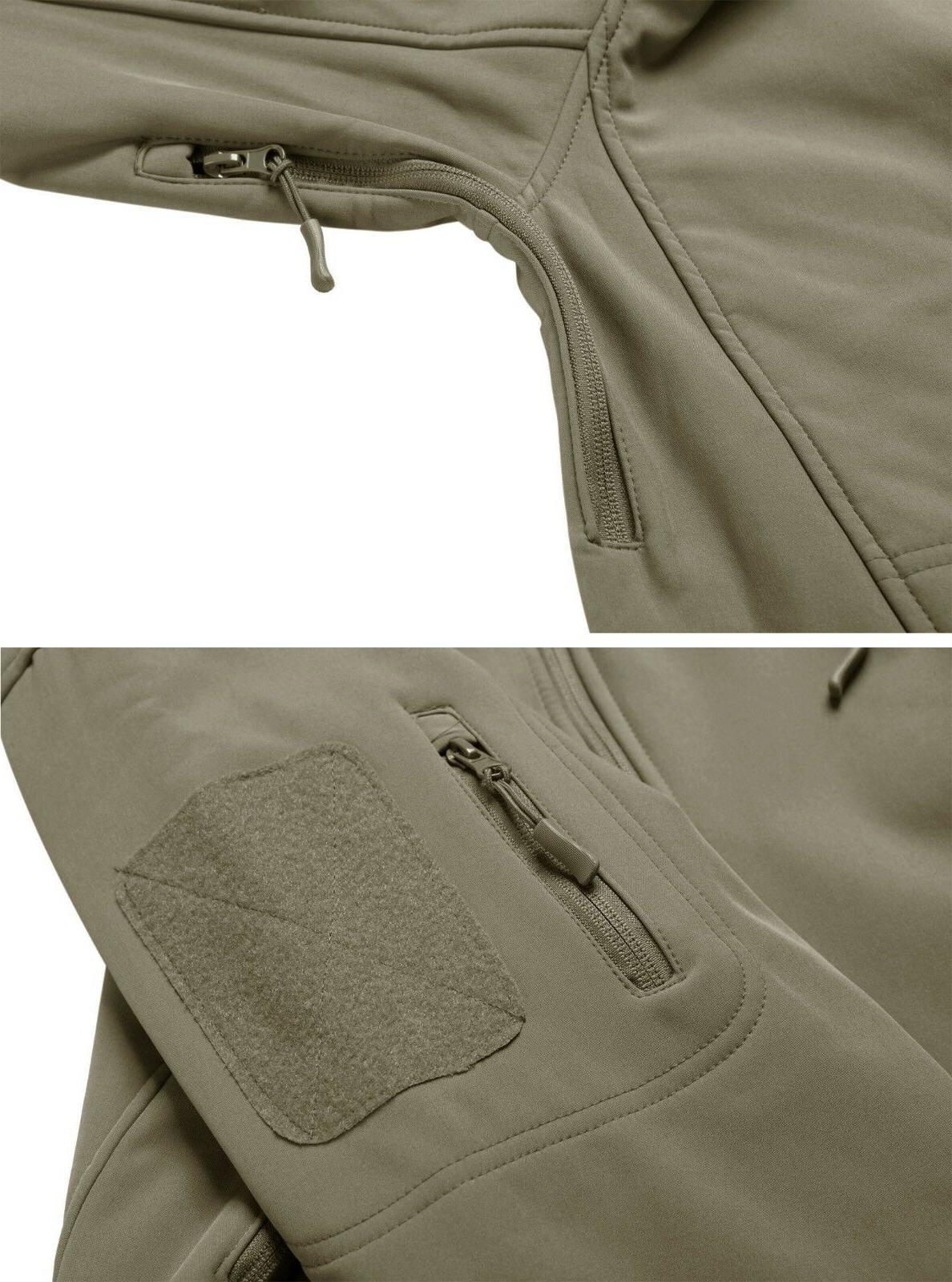TACVASEN Tactical Windproof Mens Jackets Waterproof Soft Outdoor Coats