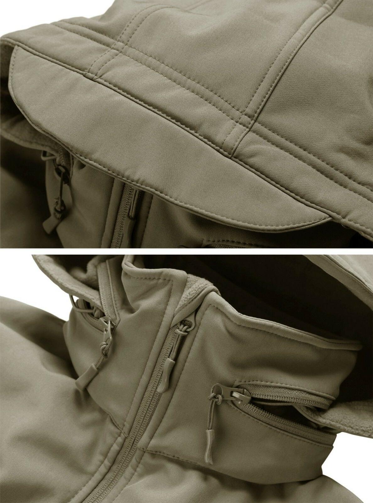 TACVASEN Windproof Jackets Waterproof Soft Outdoor