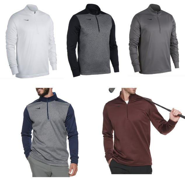 therma mens half zip golf pullover jackets