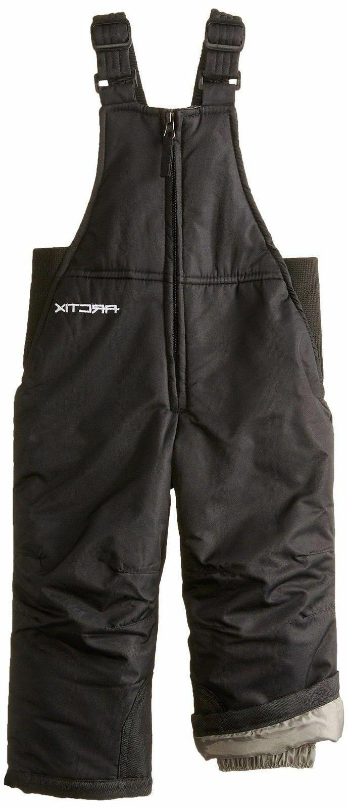 Arctix Infant/Toddler Insulated Snow Bib Overalls,Black,4T