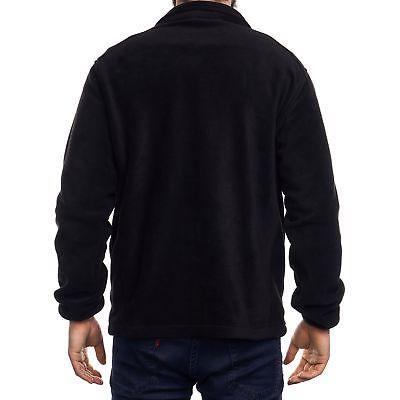 Alpine Swiss Trent Mens Full Zip Up Fleece Jacket Warm Zipper