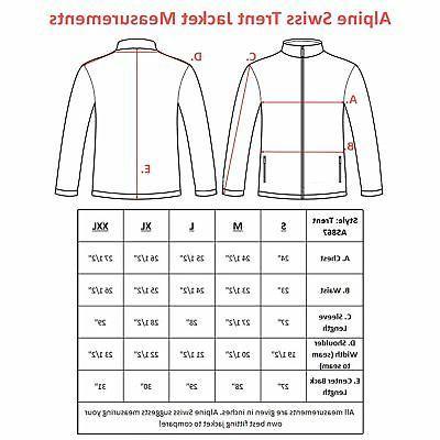 Alpine Swiss Full Jacket Zipper
