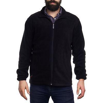 trent mens full zip up fleece jacket