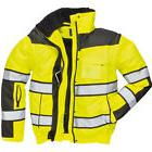 uc466 hi vis yellow waterproof bomber jacket