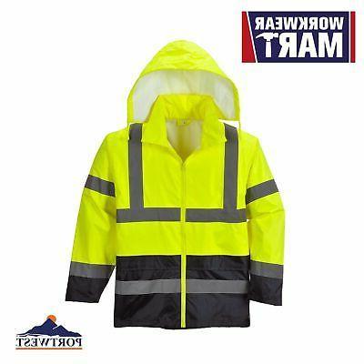 uh443 high vis classic contrast rain jacket