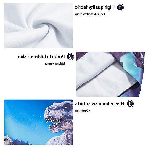 Uideazone Unisex Boys Girls Galaxy Hooded Sweatshirt Cool Graphic