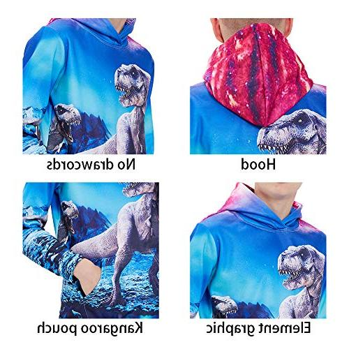 Galaxy Cool Graphic Pullover Funny Hooded Sweatshirts