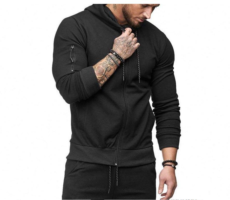US Hooded Coat Jacket Outwear Sweater Fit Zipper Tops