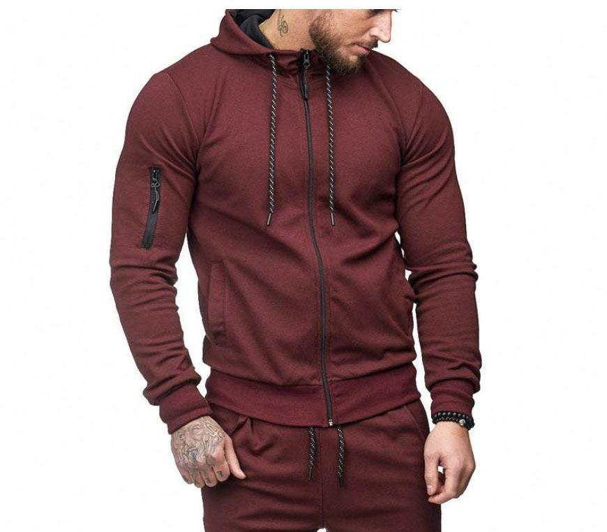 US Men Hooded Coat Jacket Sweater Fit Jumper Tops