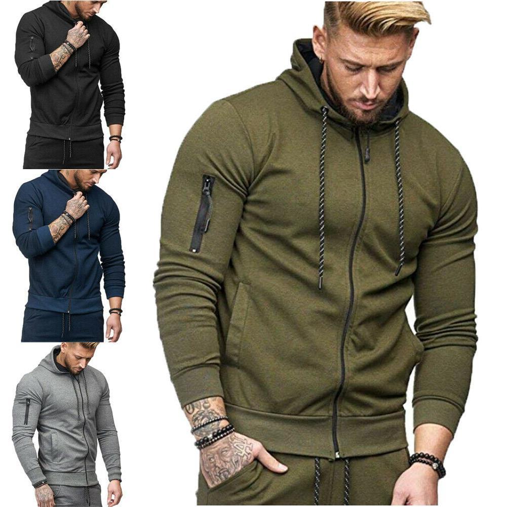 us men hooded hoodie coat jacket outwear