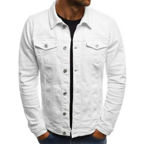 US Jean Jacket Pocket Long Sleeve Outwear Tops