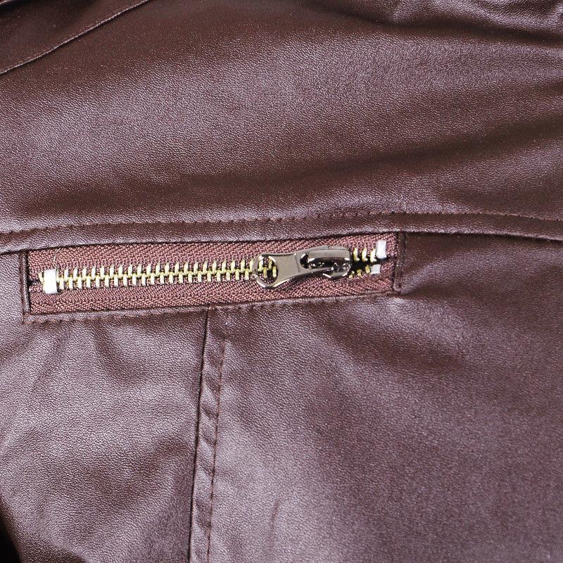 Retro Men's Faux Biker Coats Slim Jackets Zipper Outwear Tops