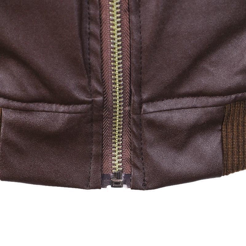 Retro Men's Faux Zipper Outwear Tops