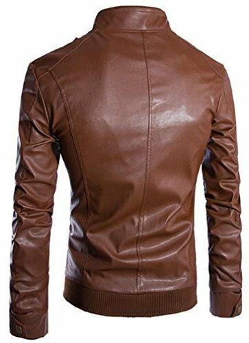 Retro Biker Zipper Outwear Coats