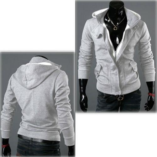 US Men's Winter Hoodie Warm Sweatshirt Coat Outwear