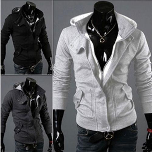 US Slim Hoodie Coat Outwear Sweater