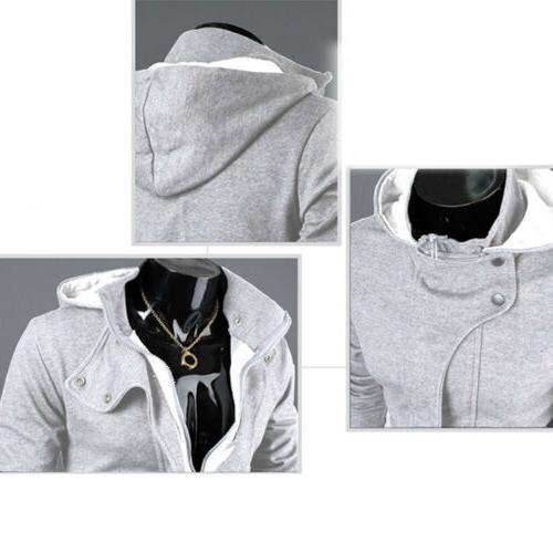 US Men's Hoodie Warm Hooded Coat