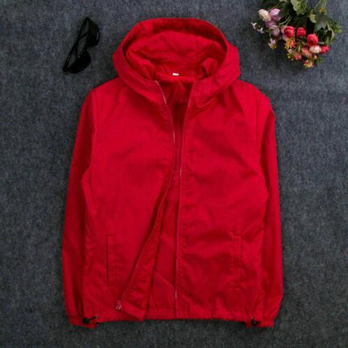 US Men Windbreaker ZIPPER Jacket hoodie Light Sports